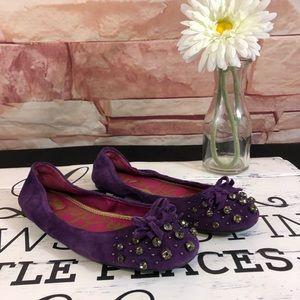 Sam Edelman Purple Jeweled Flats